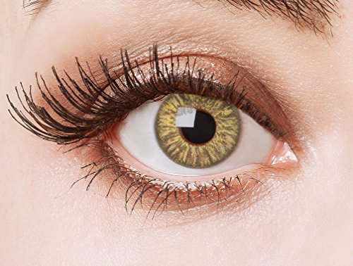 aricona Kontaktlinsen - Hellbraune Kontaktlinsen Cosplay Kontaktlinsen - Farbige Kontaktlinsen braun ohne Stärke, 2 Stück