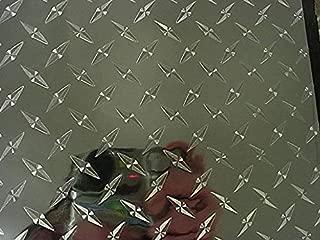 Diamond Plate Sign Vinyl, Self-Adhesive (12 inch x 10 ft)