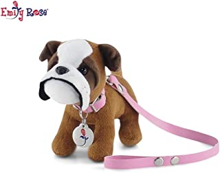 Emily Rose 18 Inch Doll Accessories | Adorable Puppy Dog with Pink Leash, Matching Collar and Dog Tag | Fits 18