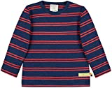 loud + proud Shirt Streifen mit Leinen, Gots Zertifiziert Camiseta, azulón, 98/104 cm Unisex bebé