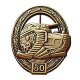 Trikoty Badge de réservoir de l'armée Allemande de l'assaut pz kpfw III. Broche Militaire de la 2ème Guerre Mondiale avec Inscription « Armed Forces »
