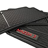 Floor Mats for Mazda 3 OEM Genuine - All Weather - Heavy Duty - (2019,2020,2021) Complete Set (Black)