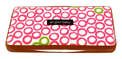 Ah Goo baby WC-BIJ-12 doeken val - blaas erin sap - Wipes Case, wit/roze