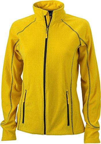 JN596 Ladies' Structure Fleece Jacket Leichte Outdoor-Fleecejacke, Größe:L;Farbe:Yellow-Carbon