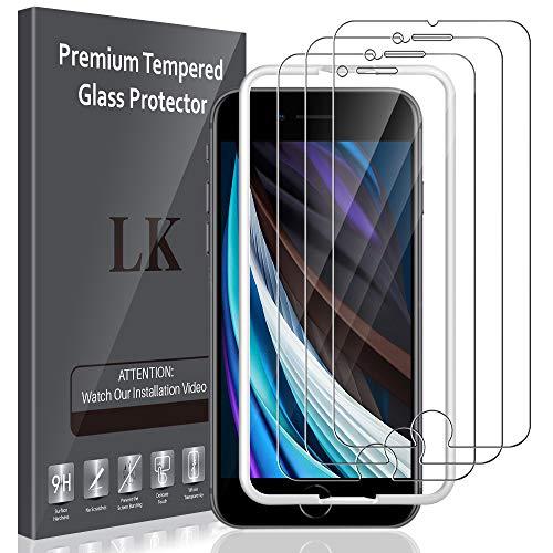 LK für iPhone SE 2020 Panzerglas, iPhone SE 2020 Schutzfolie, 9H Härte Folie, HD Klar Displayschutzfolie, [Anti-Kratzen] [Blasenfrei] [Einfacher Montage]