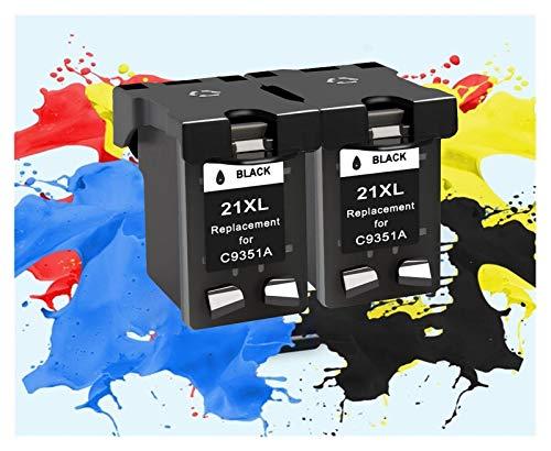 ZIJ Sustitución de Cartuchos de Cartuchos de Tinta HP 21 aplicable for HP21 for HP Deskjet F380 21XL F2180 F2280 F4180 F4100 F2100 F2200 F300 Impresora (Color : 2bk)