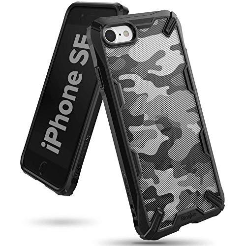 Ringke Fusion-X Custodia per iPhone 7/8/SE 2020, cover posteriore compatibile con iPhone 7 e 8 e SE 2020, silicone TPU flessibile nero