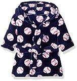 Luvable Friends Unisex Baby Plush Bathrobe, Baseball, 0-9M