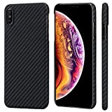 "PITAKA Slim Case Compatible with iPhone Xs Max 6.5"", MagEZ Case Aramid Fiber [Real Body Armor M…"
