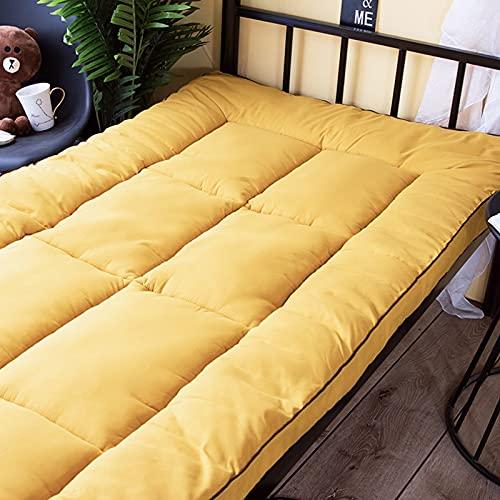 PWQHT Dormitorio Estudiantil Plegable Colchón Suelo Tatami, Japonés Tradicional Dormir Mat Futón Antideslizante, 6cm(Color:A,Size: 180cmx200cm)