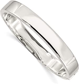 925 Sterling Silver 9.75mm Hinged Bangle Bracelet Cuff Expandable Stackable Fine Jewelry Gifts For Women For Her
