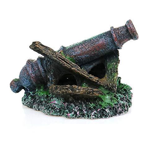 LXLH Decoración de Ancla gastada en Acuario, Escultura de Resina Antigua Hecha de escombros de los Fondos Marinos, Figuras artesanías de Fondo de pecera