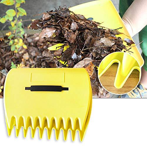 GHKK 1 par de Hojas, recogedor de césped, rastrillos de Mano, Recortes, recolección de Basura, Herramienta de Limpieza de jardín, Pala portátil para Hojas de Hierba