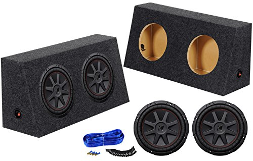 "(2) Kicker COMPVR 1400w 10"" Subwoofers+ Sub Box Enclosure for Jeep Wrangler"