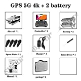 MEIGONGJU F3 Drone GPS 4K 5G WiFi Live Video FPV quadrotor Flight 25 Minutes rc Distance 500m Drone HD Wide-Angle Dual Camera,5g 4k 2b