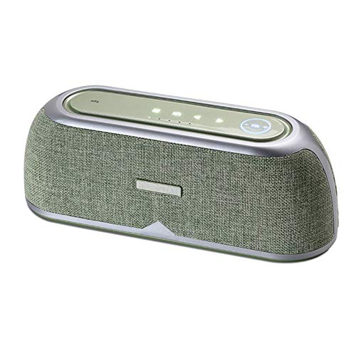 qiyan24w Altavoz Bluetooth DPS Amplificador Digital NFC Altavoz Subwoofer Construido en 4400 mah Exterior Impermeable Radio FM en Altavoces Exteriores Verde
