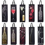 10 sacs à bouteilles sacs à cadeaux pour vin, prosecco et champagne 40 x 12 x 9 cm - mix