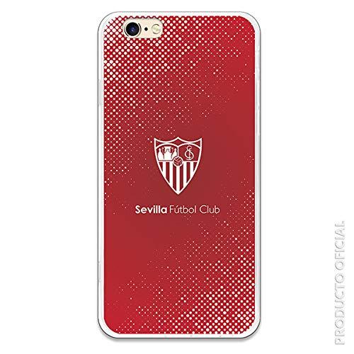 Funda para iPhone 6-6S Oficial del Sevilla FC Sevilla Trama y Escudo Blanco para Proteger tu móvil. Carcasa para Apple de Silicona Flexible con Licencia Oficial del Sevilla FC.