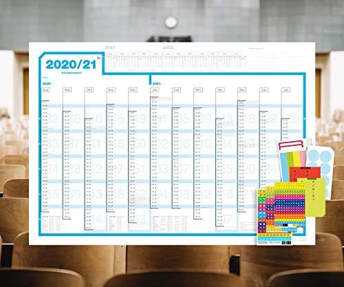 weekview Schuljahresplaner 2020/21, DIN A1, abwischbar, mit reichlich Zubehör! Lieferung gerollt!