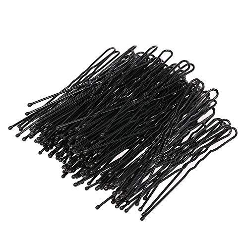 100 Stück Haarclips Haarklammer Haarspangen Hair Waved U-förmige Bobby Pin Salon DIY Haarschmuck Schwarz