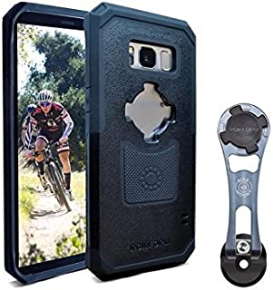 Rokform [Galaxy S8] Pro-Series Adjustable Aluminum Bike Mount / Holder & Protective Phone Case, Twist Lock & Magnetic Security