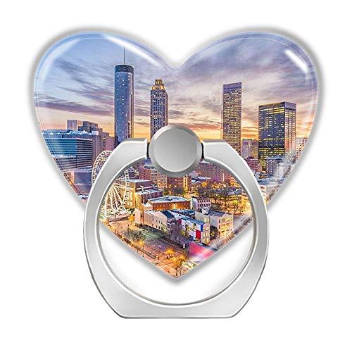Soporte de Anillo para teléfono móvil, Autoadhesivo, Soporte para Anillo de Dedo General, Soporte en Forma de corazón, rotación de 360 ° para tabletas, teléfono, Atlanta City Georgia