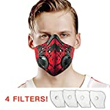 UTRIPSUNEW Safety Mask Washable and Reusable Cycling Mask With 4 Activated Carbon N99 Filters for Pollen...