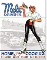 なまけ者雑貨屋 Mel's Drive-In - Car Hope ブリキ看板 メタル 壁飾り ポストカード サインプレート ポスター