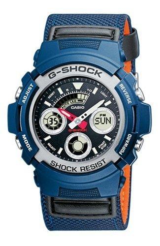CASIO AW-591MS-2AER - Reloj analógico y Digital de Cuarzo con Correa de Resina para Hombre (cronómetro, Alarma, luz, Sumergible a 200 m), Color Azul