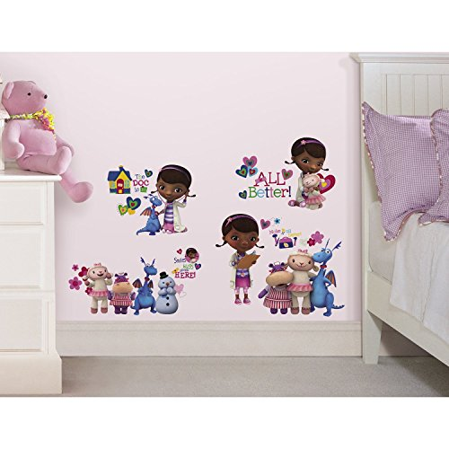 RoomMates Doc Mcstuffins Peel and Stick Wall Decals,Multicolor