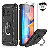 LeYi for Samsung Galaxy M20 Case with Tempered Glass Screen