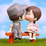 Mini-Figur für Liebhaber von Süßigkeiten, Fee, Garten, Paar, Liebhaber, Dekoration, Puppenhaus,...