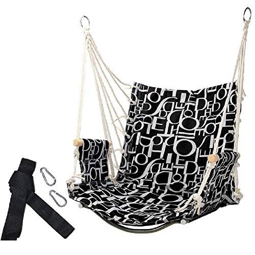 Balançoires YXX Chaise hamac Siège de Capacité 100kg, Fauteuil Suspendu Porche Yard Pont Patio Chambre Maison Jardin, 1 Oreiller Inclus (Color : Style-1)