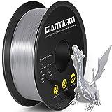 GIANTARM Filamento PLA 1.75mm Silk Plateado, Impresora 3D PLA Filamento 1 kg Carrete