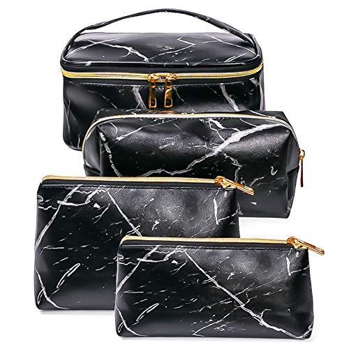SunTop 4 Pezzi Borse da Toilette, make up borse da viaggio, Beauty Case da Viaggio, Cosmetici Trucco Pochette da Toilette Organizer Quattro Dimensioni