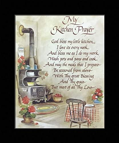 Amazon Com Black 1 Inch Framed With My Kitchen Prayer I Kitchen Prayer 16 8x10 A 8x10 Inch Coby Art Print Poster Posters Prints