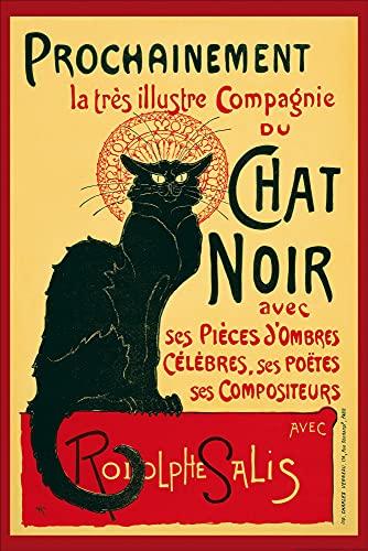 1art1 Theophile Alexandre Steinlen - Chat Noir, Gato Negro Póster (91 x 61cm)