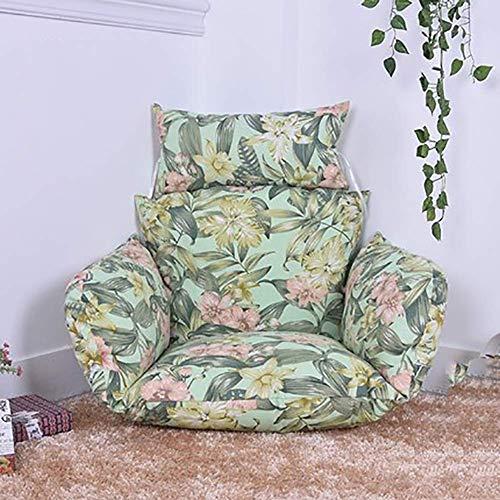 SFSGH Impresión de Cojines para sillas de Hamaca con Forma de Huevo para Colgar, colchoneta para Columpio de Cesta Desmontable, Cojines para sillas con Forma de Huevo para Colgar en ratá