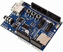 Cytron Easy MP3 Shield, decode and play MP3 for Arduino, dual channel, 3.5mm audio jack
