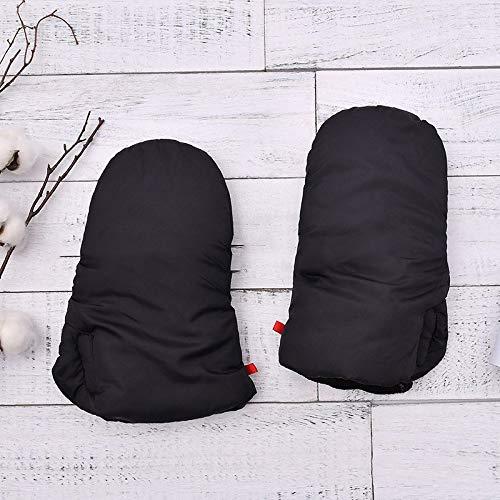 Handschoenen Winter warme winddichte karren uit de handbescherming vorst twee plus dikke fluwelen jurk, kleur: zwart, grootte: 38 * 18 cm
