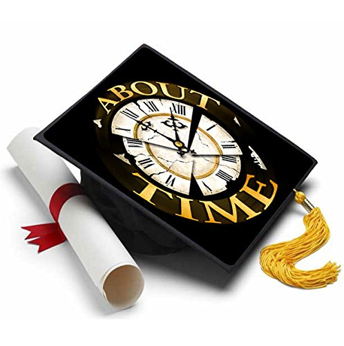 About Time Grad Cap Tassel Topper