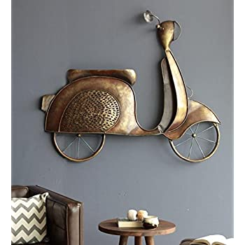 Buy Karigaari India Bronze Iron Scooty Hanging Wall Decor I Best For Home Decor I Kids Room I Wall Decor Online At Low Prices In India Amazon In