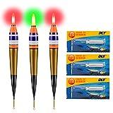 QualyQualy 3 Stück Angelposen LED Posen Angeln Zubehör Posen LED Leuchtpose Angelposen Set 1#