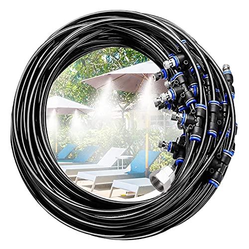 Ledph Difusores Agua Pulverizada Terraza, Antigoteo Nebulizador, Nebulizador de Agua para Terrazas, Kit Sistema de Enfriamiento para Trampolín, Parque...