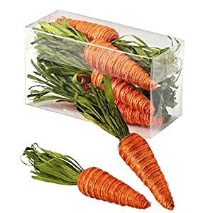 One Holiday Way Set of 6 Rustic Twine Carrots in Gift Box – Tabletop Spring Decoration