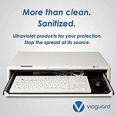 Vioguard Cubby | UV-C Sterilization Chamber |180-Degree Non-Chemical Disinfectant | Germicidal Cleaning
