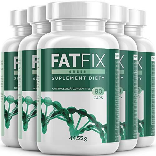 FatFix Kapseln - Maxi-Pack - mit 90 Kapseln | Fburner mit Garcinia Cambogia Extrakt - Fitness Sommer Aktion Keto (5 Dosen)