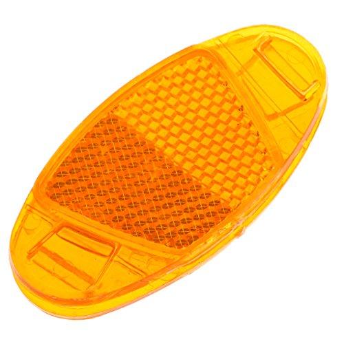 BLEUNUIT Hoja Reflectante de radios, 1 Pieza Reflector de radios de Bicicleta Luz de Advertencia de Seguridad Llanta de Rueda Montaje Reflectante-Amarillo