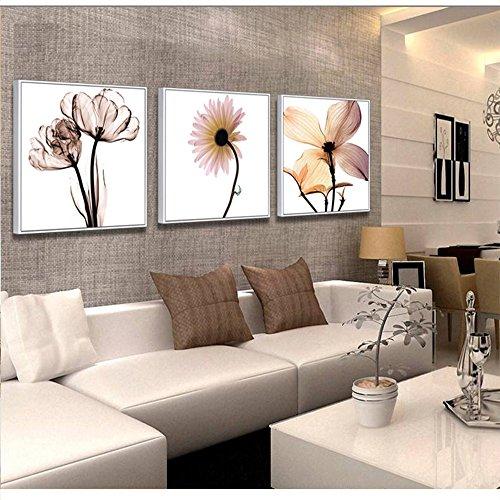 Salon Moderno Minimalista Decoracion Pintura Pintura Marco Dormitorio sofá Mural Pared Flor triptico Pintura Fondo Europeo DE,60 * 60