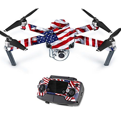 MightySkins Skin Compatible with DJI Mavic Pro Quadcopter Drone - Patriot | Protective, Durable, and Unique Vinyl Decal wrap Cover | Easy to Apply, Remove, and Change Styles | Made in The USA